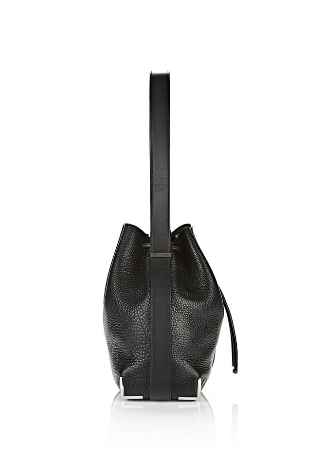 ALEXANDER WANG PRISMA DRAWSTRING HOBO IN BLACK WITH RHODIUM Shoulder bag Adult 12_n_d