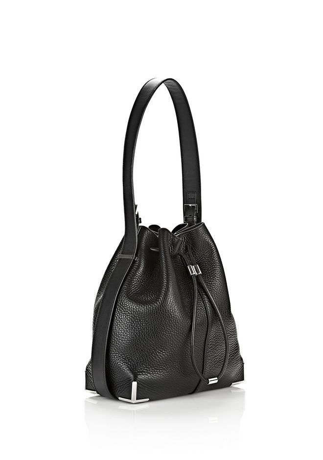 ALEXANDER WANG PRISMA DRAWSTRING HOBO IN BLACK WITH RHODIUM Shoulder bag Adult 12_n_e