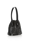 ALEXANDER WANG PRISMA DRAWSTRING HOBO IN BLACK WITH RHODIUM Shoulder bag Adult 8_n_e
