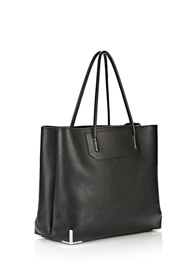 ALEXANDER WANG PRISMA LARGE TOTE IN PEBBLED BLACK WITH RHODIUM Shoulder bag Adult 12_n_e