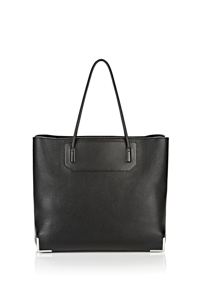 ALEXANDER WANG PRISMA LARGE TOTE IN PEBBLED BLACK WITH RHODIUM Shoulder bag Adult 12_n_f