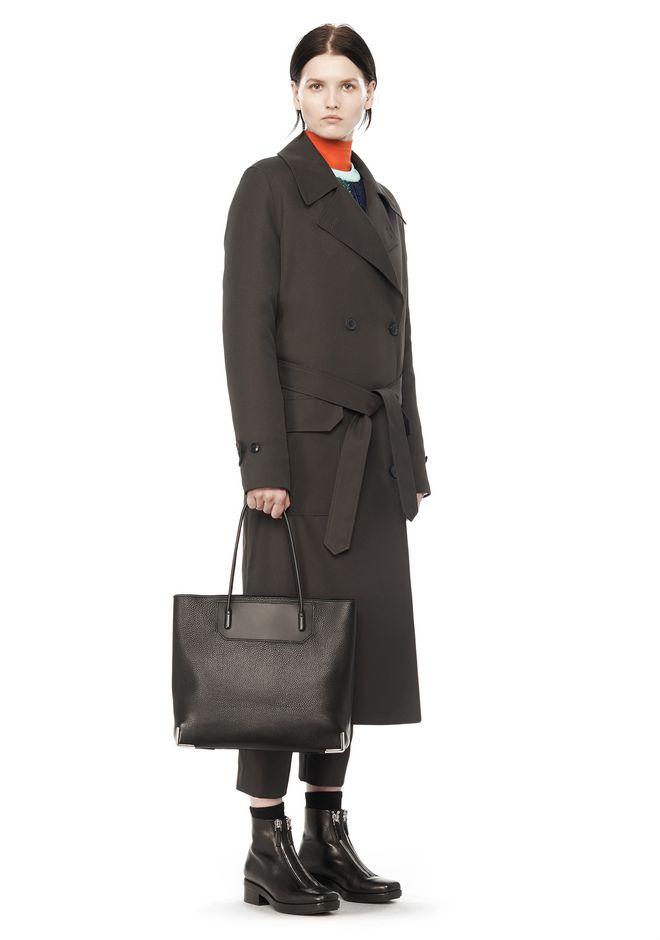 ALEXANDER WANG PRISMA LARGE TOTE IN PEBBLED BLACK WITH RHODIUM Shoulder bag Adult 12_n_r
