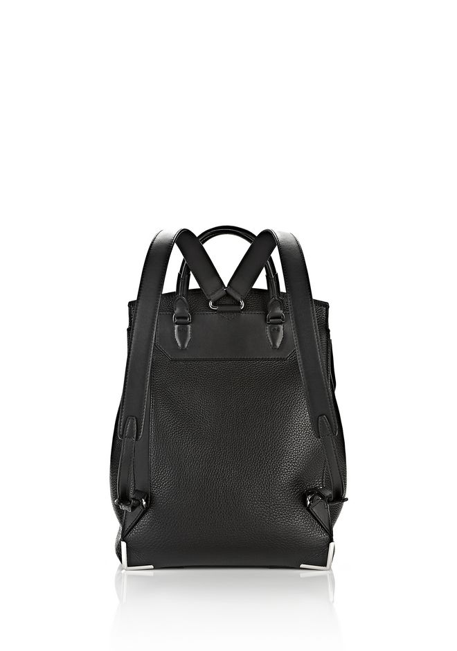 ALEXANDER WANG PRISMA BACKPACK IN PEBBLED BLACK WITH RHODIUM  BACKPACK Adult 12_n_d