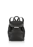 ALEXANDER WANG PRISMA BACKPACK IN PEBBLED BLACK WITH RHODIUM  BACKPACK Adult 8_n_f