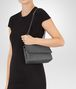BOTTEGA VENETA BABY OLIMPIA BAG IN NEW LIGHT GREY INTRECCIATO NAPPA Shoulder or hobo bag D lp