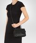 BOTTEGA VENETA NERO INTRECCIATO NAPPA BABY OLIMPIA BAG Shoulder or hobo bag D ap