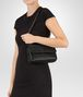 BOTTEGA VENETA NERO INTRECCIATO NAPPA BABY OLIMPIA BAG Shoulder or hobo bag D lp