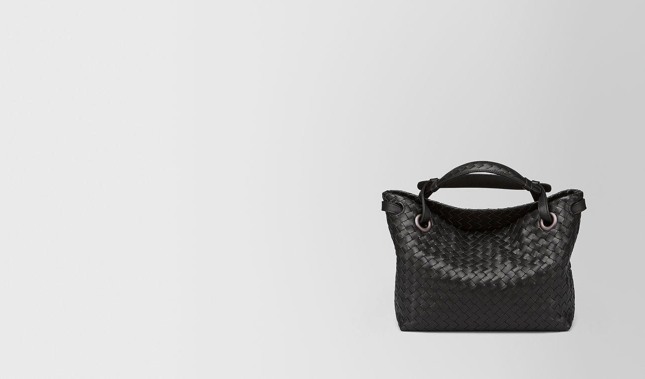 nero intrecciato nappa small garda bag landing