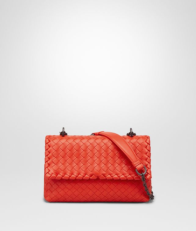 BOTTEGA VENETA BABY OLIMPIA BAG IN VESUVIO INTRECCIATO NAPPA Shoulder or hobo bag Woman fp