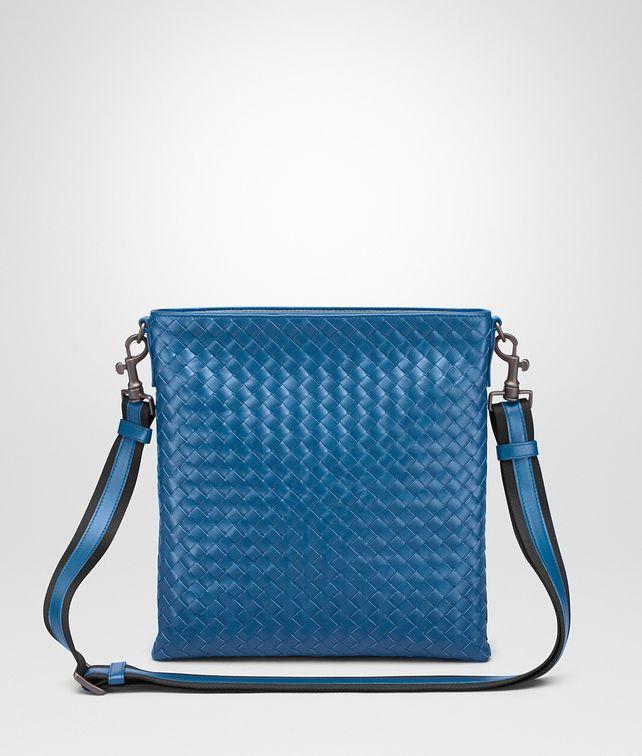 79de94f631b5 BOTTEGA VENETA SMALL MESSENGER BAG IN BLUETTE INTRECCIATO VN Messenger Bag       pickupInStoreShippingNotGuaranteed info