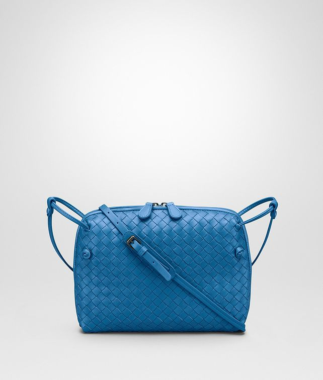 2e6ed857b8 BOTTEGA VENETA MESSENGER BAG IN BLUETTE INTRECCIATO NAPPA Crossbody and  Belt Bags