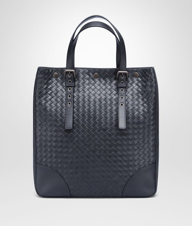 BOTTEGA VENETA LIGHT TOURMALINE INTRECCIATO AQUATRE BAG Tote Bag Man fp