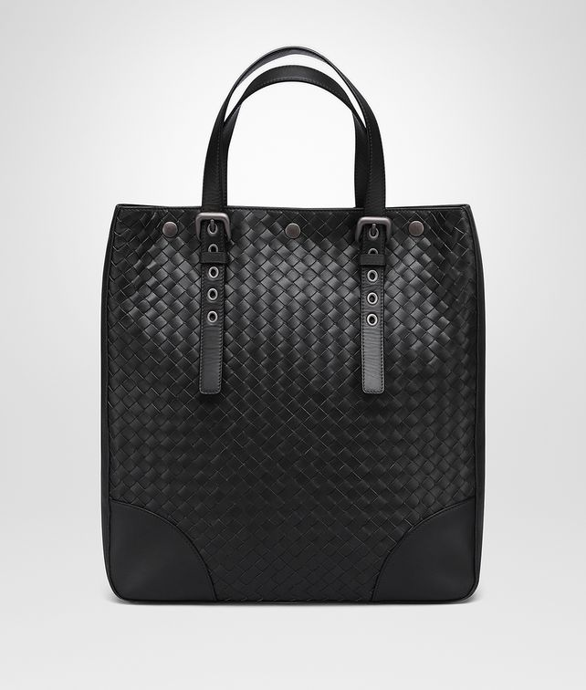 BOTTEGA VENETA AQUATRE BAG IN LIGHT NERO INTRECCIATO VN  Tote Bag Man fp