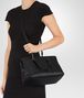 BOTTEGA VENETA MEDIUM TOP HANDLE BAG IN NERO INTRECCIATO NAPPA Top Handle Bag D lp