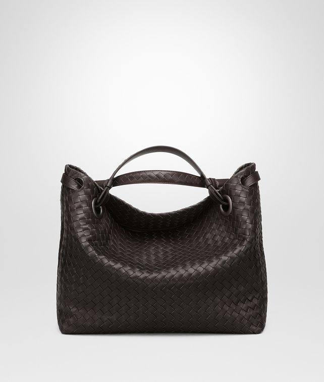 BOTTEGA VENETA BORSA GARDA MEDIA IN INTRECCIATO NAPPA ESPRESSO Shoulder Bag [*** pickupInStoreShipping_info ***] fp
