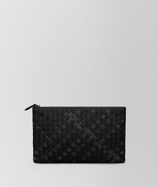 BOTTEGA VENETA MEDIUM DOCUMENT CASE IN NERO INTRECCIATO NAPPA AYERS Other Leather Accessory Woman fp