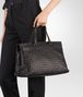 BOTTEGA VENETA ESPRESSO INTRECCIATO NAPPA LARGE TOP HANDLE BAG Top Handle Bag Woman ap