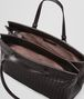 BOTTEGA VENETA ESPRESSO INTRECCIATO NAPPA LARGE TOP HANDLE BAG Top Handle Bag D dp