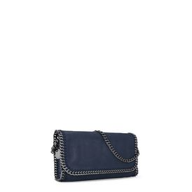 Navy Falabella Shaggy Deer Shoulder Bag