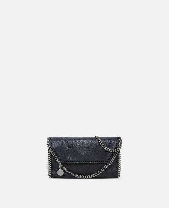 Navy Falabella Shaggy Deer Mini Bag
