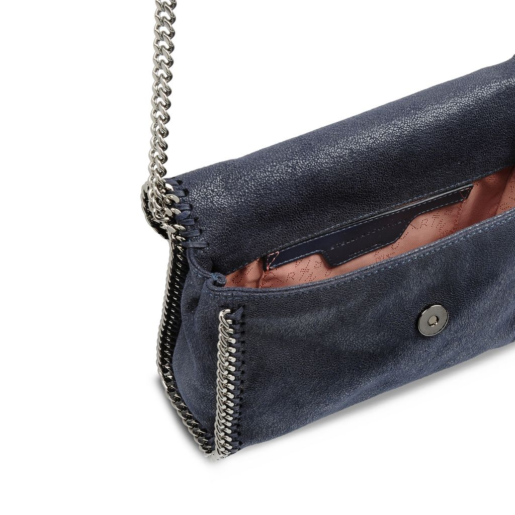 Navy Falabella Shaggy Deer Mini Bag - STELLA MCCARTNEY