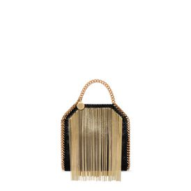 STELLA McCARTNEY Falabella Mini Bags D Falabella Chain Fringed Tiny Tote f