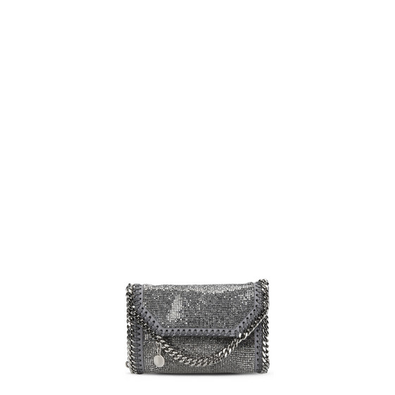 Falabella Crystal Stones Tiny Fold Over Tote
