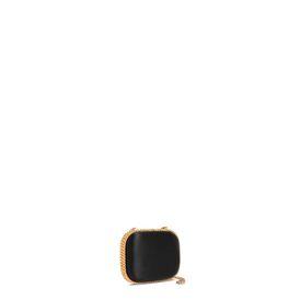 Black Falabella Satin Clutch