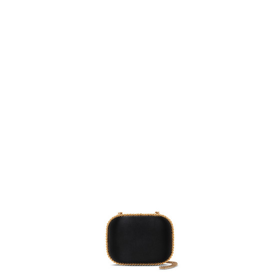 Black Falabella Satin Clutch