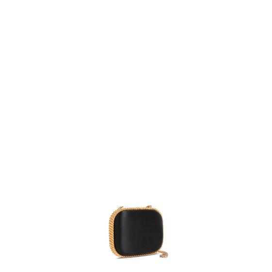 ブラック ファラベラ サテン クラッチ