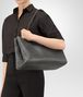BOTTEGA VENETA LARGE TOTE BAG IN NEW LIGHT GRAY INTRECCIATO NAPPA Top Handle Bag Woman ap