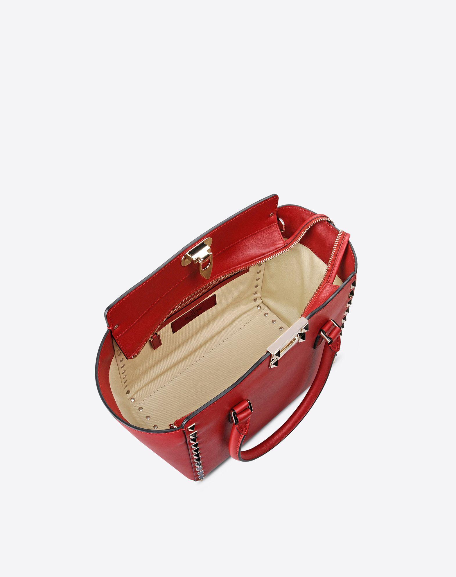 VALENTINO Cuero Logotipo Tachuelas Monocolor Cierre de cremallera Bolsillos internos Bandolera desmontable  45285770dt