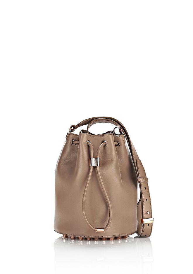 ALEXANDER WANG sale-w-handbags ALPHA BUCKET IN LATTE WITH ROSE GOLD
