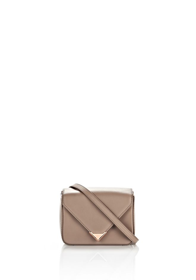 ALEXANDER WANG bags-classics MINI PRISMA ENVELOPE SLING IN LATTE WITH ROSE GOLD
