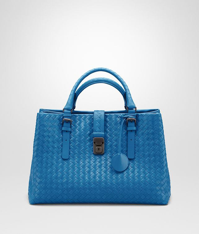 BOTTEGA VENETA MEDIUM ROMA BAG IN BLUETTE INTRECCIATO CALF Top Handle Bag       17e18c46e3b0c
