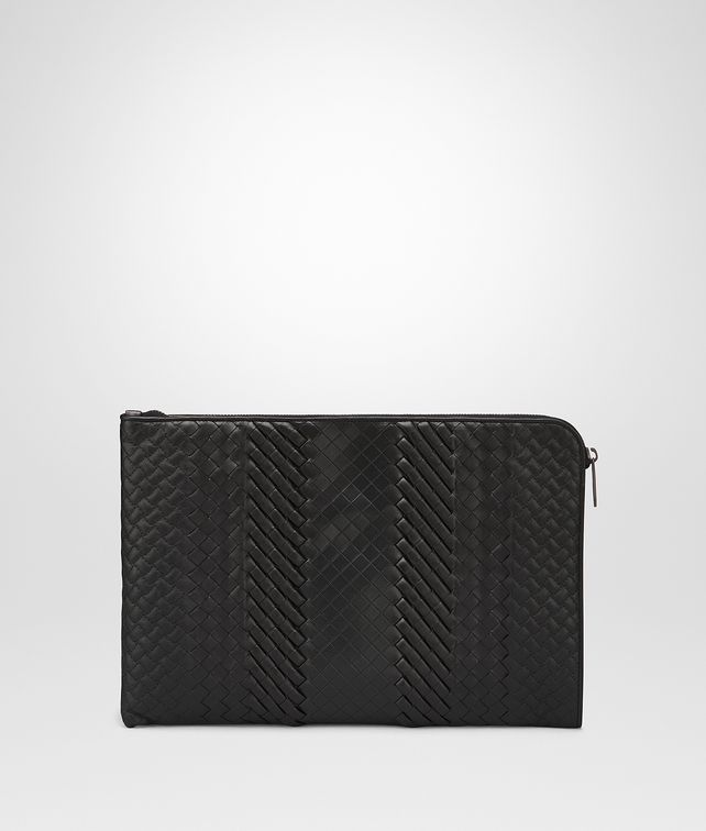 BOTTEGA VENETA DOCUMENT CASE IN NERO INTRECCIO IMPERATORE Document case Man fp
