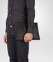 BOTTEGA VENETA DOCUMENT CASE IN NERO INTRECCIO IMPERATORE Backpack Man ap
