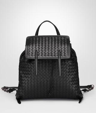 BACKPACK IN NERO INTRECCIATO NAPPA