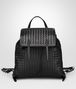 BOTTEGA VENETA BACKPACK IN NERO INTRECCIATO NAPPA Crossbody bag D fp