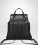 BOTTEGA VENETA NERO INTRECCIATO NAPPA BACKPACK Crossbody bag Woman lp
