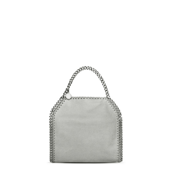 Light grey Falabella Shaggy Deer Mini Tote