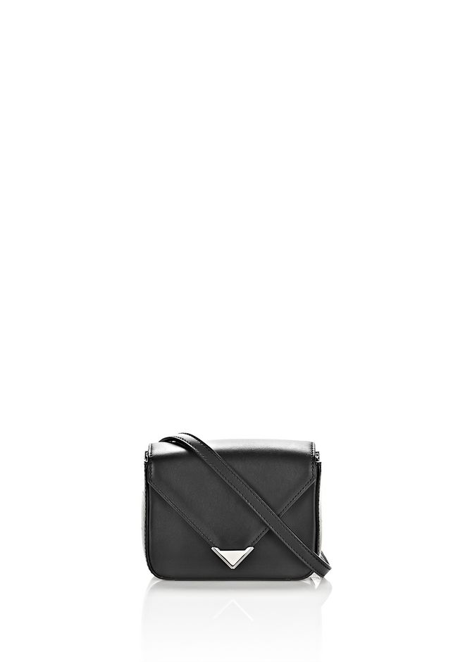 ALEXANDER WANG bags-classics MINI PRISMA ENVELOPE SLING IN BLACK WITH RHODIUM