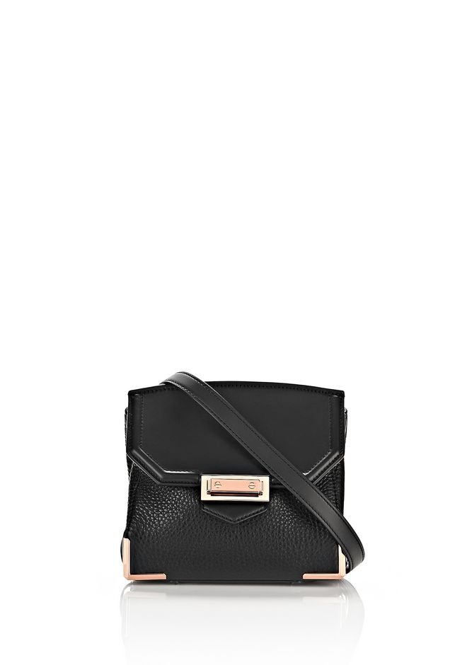ALEXANDER WANG sale-w-handbags MARION IN PEBBLED BLACK WITH ROSE GOLD