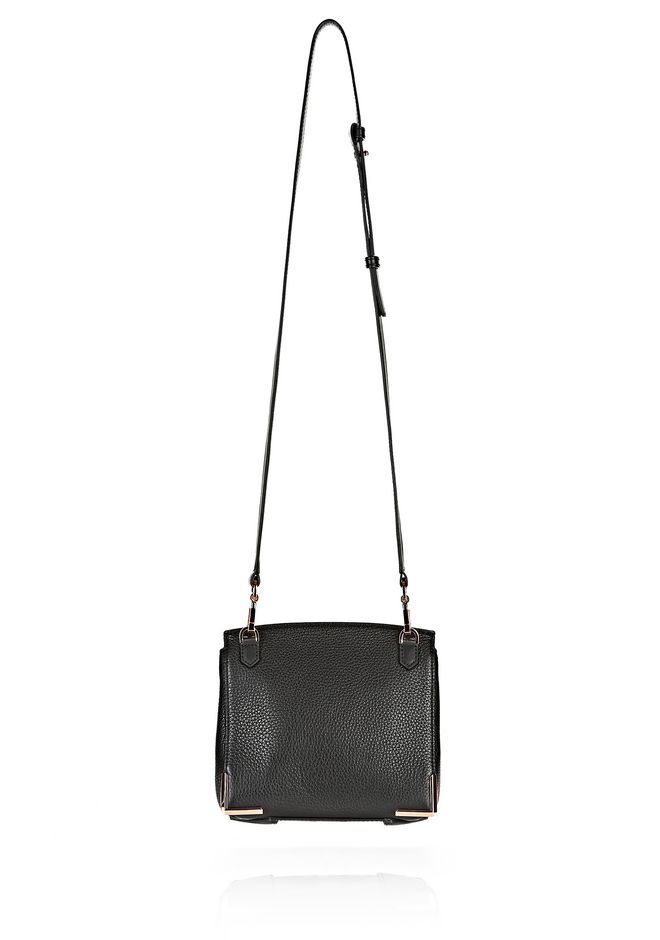 MARION IN PEBBLED BLACK WITH ROSE GOLD | Shoulder Bag | Alexander ...
