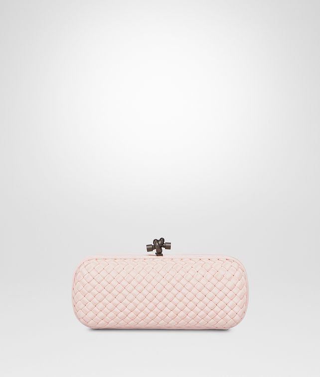 deaa5854dcf BOTTEGA VENETA STRETCH KNOT CLUTCH IN PETALE INTRECCIO FAILLE MOIRE Clutch       pickupInStoreShipping info