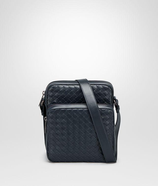 BOTTEGA VENETA MESSENGER BAG IN LIGHT TOURMALINE INTRECCIATO VN Messenger Bag Man fp