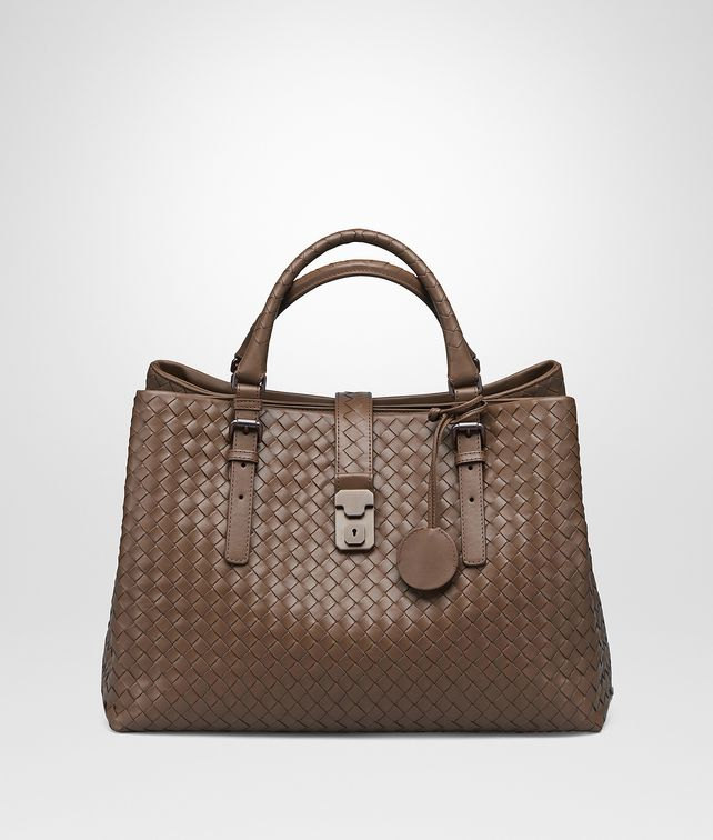 Bottega Veneta® - MEDIUM ROMA BAG IN NEW CIGAR ... c3f1ac0dc2ad1