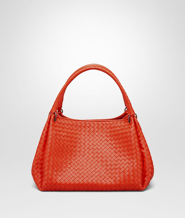 BOTTEGA VENETA PARACHUTE BAG IN VESUVIO INTRECCIATO NAPPA Shoulder or hobo bag D fp