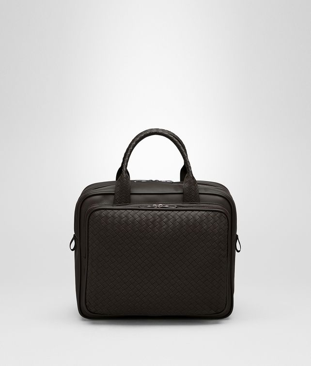 BOTTEGA VENETA TRAVEL BAG IN ESPRESSO INTRECCIATO VN Luggage E fp