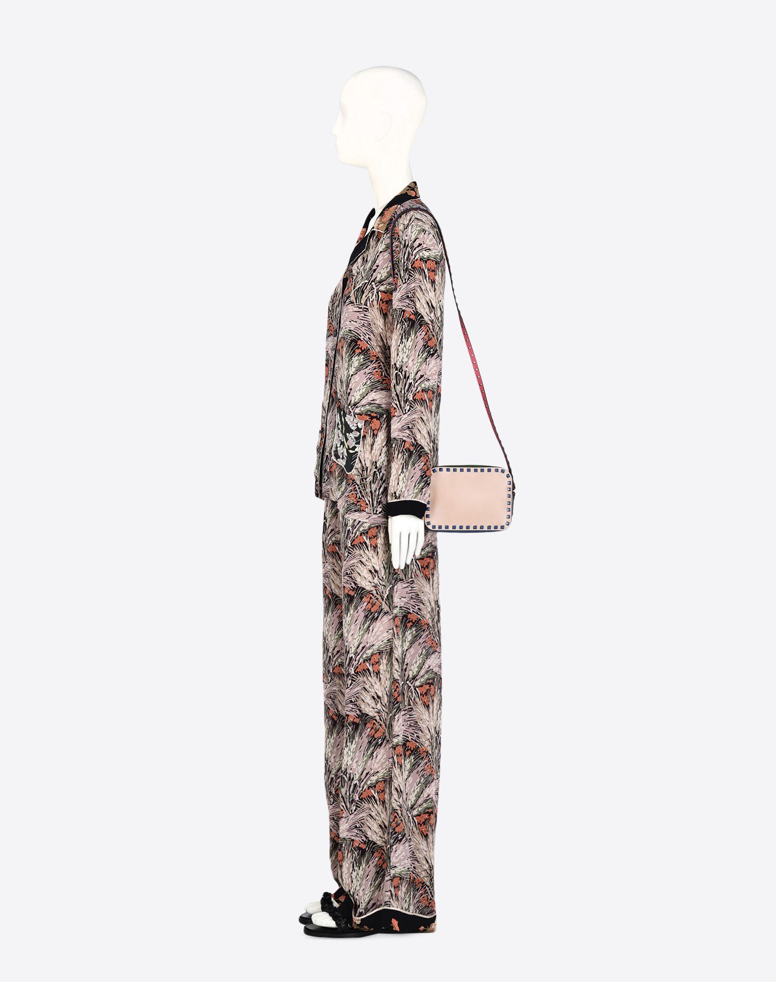 VALENTINO Studs Zip closure Adjustable shoulder straps  45291390pr
